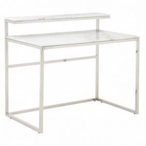 Carrie Kirjoituspöytä 110 Teräs/Valkoinen