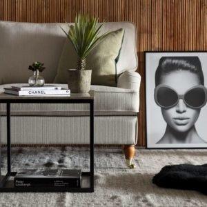 Carrie Sivupöytä 50 Beige/Musta