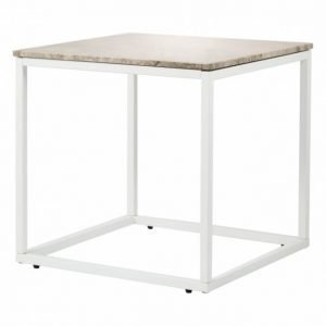 Carrie Sivupöytä 50 Beige/Valkoinen