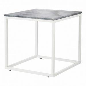 Carrie Sivupöytä 50 Harmaa/Valkoinen