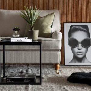 Carrie Sivupöytä 50 Musta/Musta