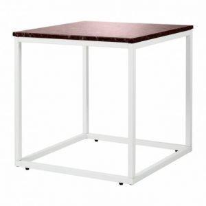 Carrie Sivupöytä 50 Punainen/Valkoinen