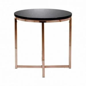 Carrie Sivupöytä 50 Pyöreä Musta/Kupari