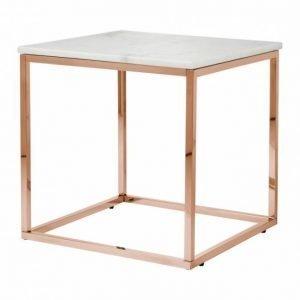 Carrie Sivupöytä 50 Valkoinen/Kupari