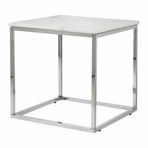 Carrie Sivupöytä 50 Valkoinen/Teräs