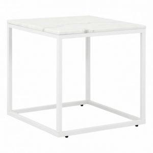 Carrie Sivupöytä 50 Valkoinen/Valkoinen