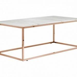 Carrie Sohvapöytä 120 Valkoinen/Kupari