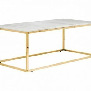 Carrie Sohvapöytä 120 Valkoinen/Messinki