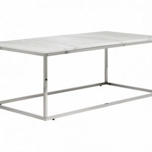Carrie Sohvapöytä 120 Valkoinen/Teräs