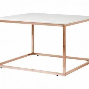 Carrie Sohvapöytä 70 Valkoinen/Kupari