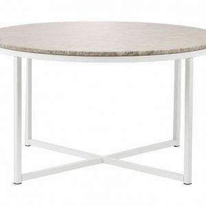 Carrie Sohvapöytä 80 Pyöreä Beige/Valkoinen