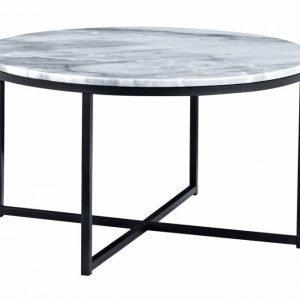 Carrie Sohvapöytä 80 Pyöreä Harmaa/Musta