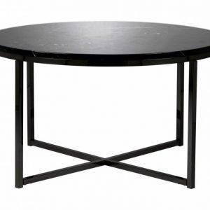 Carrie Sohvapöytä 80 Pyöreä Musta/Musta