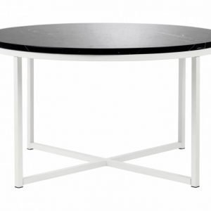 Carrie Sohvapöytä 80 Pyöreä Musta/Valkoinen