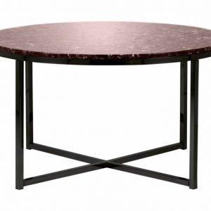 Carrie Sohvapöytä 80 Pyöreä Punainen/Musta