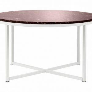 Carrie Sohvapöytä 80 Pyöreä Punainen/Valkoinen