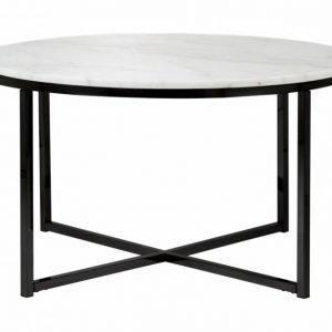 Carrie Sohvapöytä 80 Pyöreä Valkoinen/Musta