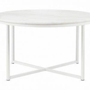Carrie Sohvapöytä 80 Pyöreä Valkoinen/Valkoinen