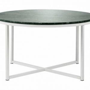 Carrie Sohvapöytä 80 Pyöreä Vihreä/Valkoinen