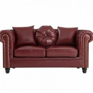 Chesterfield 2-istuttava Sohva Häränverenpunainen