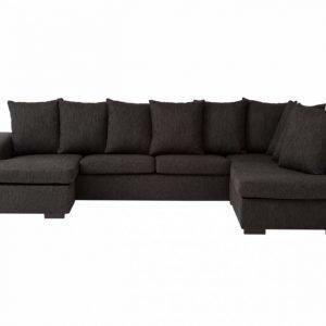 Chicago XL U-Sohva Musta
