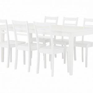 Colleen Pöytä 180 + 6 Sjöberg Tuoli Valkoinen