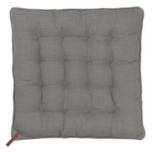 Cozy Living Nordic Basics Cotton Istuintyyny Square Mud 40x40 Cm