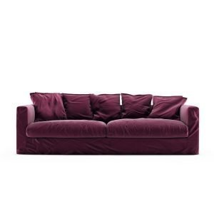Decotique Le Grand Air 3-Istuttava Sohva Sametti Bordeaux