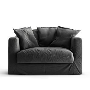 Decotique Le Grand Air Loveseat Nojatuoli Carbon Dust