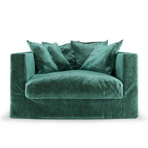 Decotique Le Grand Air Loveseat Nojatuoli Petrol Green