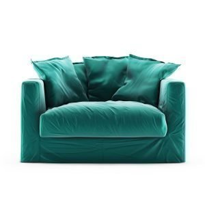 Decotique Le Grand Air Loveseat Nojatuoli Sametti Azure