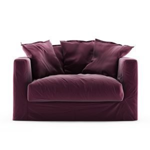 Decotique Le Grand Air Loveseat Nojatuoli Sametti Bordeaux