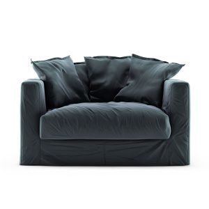 Decotique Le Grand Air Loveseat Nojatuoli Sametti Graphite