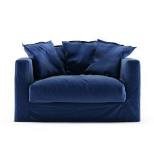 Decotique Le Grand Air Loveseat Nojatuoli Sametti Indigo