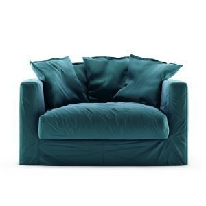 Decotique Le Grand Air Loveseat Nojatuoli Sametti Kingfisher