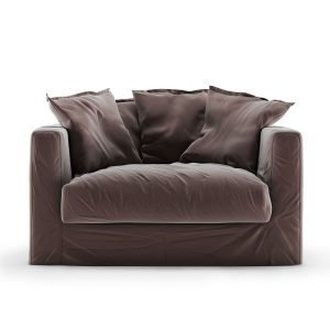 Decotique Le Grand Air Loveseat Nojatuoli Sametti Moleskin Brown