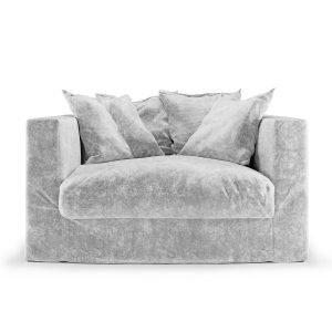 Decotique Le Grand Air Loveseat Nojatuoli Soft Silver