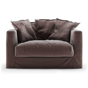 Decotique Le Grand Air Loveseat Sohva Sametti Moleskin Brown