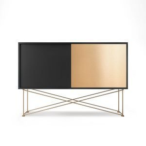 Decotique Vogue Sideboard Senkki 136h Antracit / 1a1b / Messinki