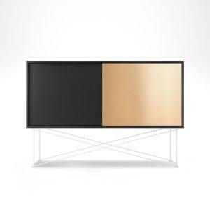 Decotique Vogue Sideboard Senkki 136h Antracit / 1a1b / Valkoinen
