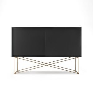 Decotique Vogue Sideboard Senkki 136h Antracit / 2a / Messinki