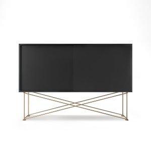Decotique Vogue Sideboard Senkki 136h Antracit / 2a / Messinki
