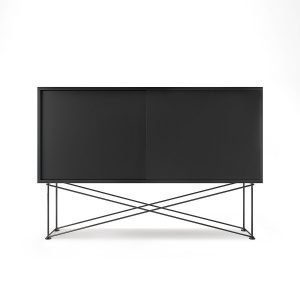 Decotique Vogue Sideboard Senkki 136h Antracit / 2a / Musta