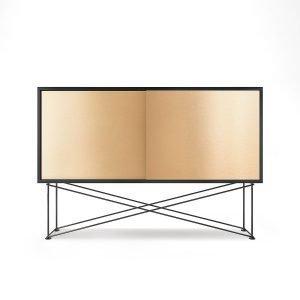 Decotique Vogue Sideboard Senkki 136h Antracit / 2b / Musta