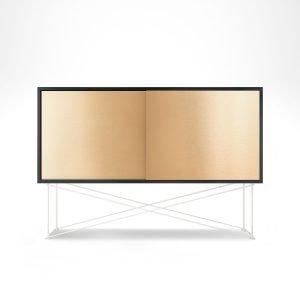 Decotique Vogue Sideboard Senkki 136h Antracit / 2b / Valkoinen