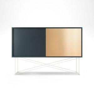 Decotique Vogue Sideboard Senkki 136h Harmaa / 1g1b / Valkoinen
