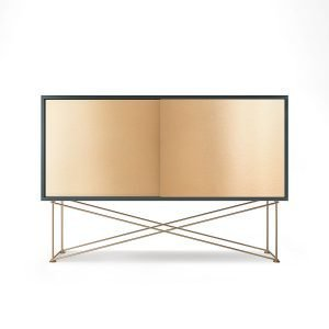 Decotique Vogue Sideboard Senkki 136h Harmaa / 2b / Messinki