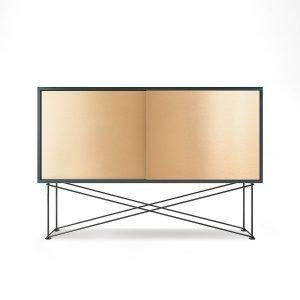 Decotique Vogue Sideboard Senkki 136h Harmaa / 2b / Musta