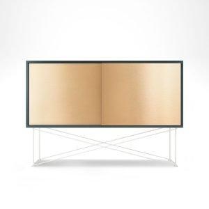 Decotique Vogue Sideboard Senkki 136h Harmaa / 2b / Valkoinen