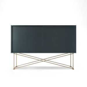 Decotique Vogue Sideboard Senkki 136h Harmaa / 2g / Messinki